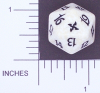 Dice : D20 OPAQUE ROUNDED SPECKLED MTG LIFE COUNTERS BETRAYERS 03