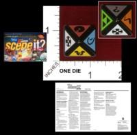 Dice : D8 OPAQUE ROUNDED SOLID MATTEL DISNEY SCENE IT 02