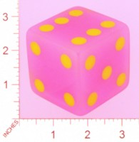 Dice : MINT21 CRISLOID PINK TRANSLUCENT