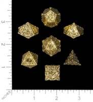 Dice : MINT53 PAIZO Q WORKSHOP PATHFINDER METAL GOLD