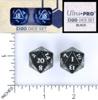 Dice : MINT58 ULTRA PRO D20 DICE SET black