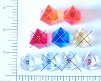 Dice : D8 CLEAR SHARP SOLID 1