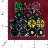 Dice : MINT40 UNKNOWN DC COMICS LANTERNS GREEN RED YELLO BLACK