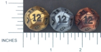 Dice : D12 OPAQUE SHARP IRIDESCENT 01 KOPLOW OLYMPIC