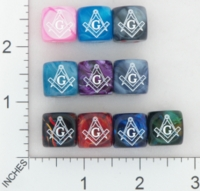 Dice : MINT17 CHESSEX SECRET SOCIETY MASONS 01