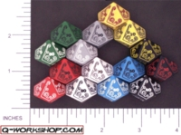 Dice : D10 OPAQUE ROUNDED SOLID Q WORKSHOP CALL OF CTHULHU 02