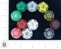 Dice : D12 OPAQUE ROUNDED SOLID Q WORKSHOP ELVEN II 01