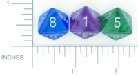 Dice : D8 OPAQUE ROUNDED IRIDESCENT CHESSEX VELVET 02