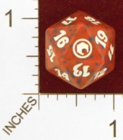 Dice : D20 OPAQUE ROUNDED SPECKLED MTG LIFE COUNTERS SCARS OF MIRRODIN 01