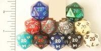 Dice : D20 OPAQUE ROUNDED IRIDESCENT 1