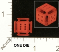 Dice : MINT25 SHAPEWAYS MCTRIVIA OPEN FACE CLAWED DIE 01