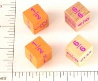 Dice : WOOD D6 FRACTIONS