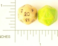 Dice : D20 OPAQUE SHARP SOLID OLD CHEAP 2