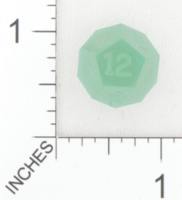 Dice : D12 TRANSLUCENT SHARP SOLID GAMESCIENCE FOX RIVER GREEN 01