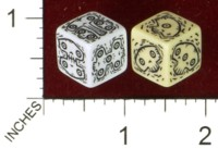 Dice : MINT43 TINDERBOX ENTERTAINMENT DICE EMPIRE SERIES 1 STRETCH SKULLS