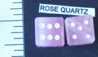 Dice : STONE D6 ROSE QUARTZ 2