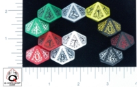 Dice : D10 OPAQUE ROUNDED SOLID Q WORKSHOP ELVEN II 01