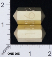 Dice : MINT18 ACE PRECISION D6 BRASS NUMBERED SPINDLE 01