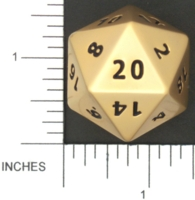 Dice : METAL BRASS D20 01 CRYSTAL CASTE 01