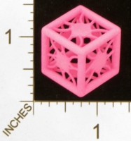 Dice : MINT28 SHAPEWAYS MCTRIVIA D6 GRID DIE 03 07