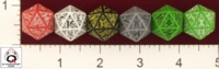 Dice : D20 OPAQUE ROUNDED SOLID Q WORKSHOP CELTIC II V 01