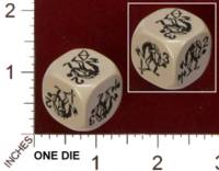 Dice : MINT29 IRON CROWN WILDS OF DOOM GREAT TROLL DIE 01