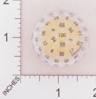 Dice : D100 CLEAR WITH BLACK SMALL AND YELLOW 01