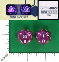Dice : MINT58 ULTRA PRO D20 DICE SET PURPLE
