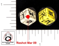 Dice : NUMBERED OPAQUE ROUNDED SOLID Q WORKSHOP SOVIET 01