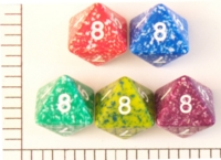 Dice : D8 OPAQUE ROUNDED SPECKLED KOPLOW 01