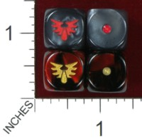 Dice : MINT39 CHESSEX CUSTOM WARHAMMER 40K BLOOD ANGELS