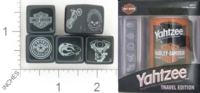 Dice : NUMBERED OPAQUE ROUNDED SOLID USAOPOLY HARLEY DAVIDSON YAHTZEE 01