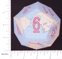 Dice : PAPER D12 3 DODECEARTH 06