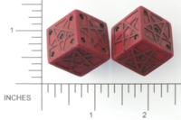 Dice : D6 OPAQUE SHARP SOLID BRIANS BAZAR PENTAGRAM 02