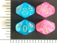 Dice : D10 OPAQUE ROUNDED IRIDESCENT CHESSEX EASTER