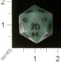 Dice : STONE D20 CRYSTAL CASTE AVENTURENE GREEN 01