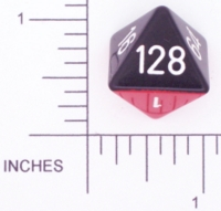 Dice : D8 OPAQUE ROUNDED 2TONE DOUBLING 01