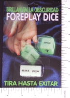 Dice : SEX PIPE DREAM 03 GLOW IN THE DARK EROTIC DICE SPANISH