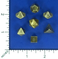 Dice : MINT57 CRYSTAL CASTE BRASS POLY SMALL