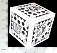 Dice : PAPER D06 Q-WORKSHOP DICE DESIGN CONTEST NOVEMBER 2007 JOCHEM VAN JOOGSTRATEN 01 AZTEC TOLTEC MAYAN