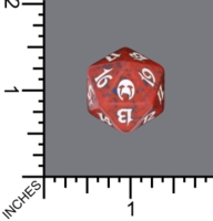 Dice : D20 MTG OPAQUE ROUNDED SPECKLED WIZARDS OF THE COAST MTG APOCALYPSE 04