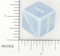 Dice : NON NUMBERED OPAQUE ROUNDED SOLID GAMESTATION PARTS OF SPEACH