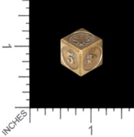 Dice : MINT56 TRAYSER METAL WORKS BRONZE D6 TEMPLAR
