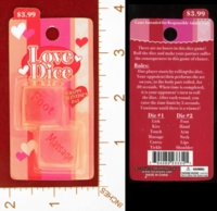 Dice : MINT26 NOVELTY INC LOVE DICE