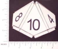 Dice : PAPER D10 PROJECTED PENTAGONAL DELTAHEDRON