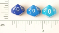 Dice : D10 OPAQUE ROUNDED SOLID BLUE