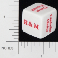 Dice : NON NUMBERED OPAQUE ROUNDED SOLID GAMESTATION HYATT