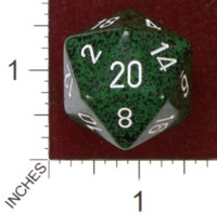 Dice : D20 OPAQUE ROUNDED SPECKLED CHESSEX RECON JUMBO 01