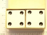 Dice : LG PLASTIC 2 D6 OPAQUE SHARP SOLID 1
