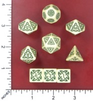 Dice : MINT52 DRACAWOOD GAMING CELTIC KNOT DICE